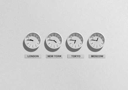 a set of clocks